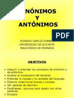 Rosario García Romero - Sinónimos y Antónimos