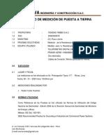 CERTIFICADO DE POZO A TIERRA  (AV. PROLONGACIÓN TACNA  117)   RIMAC   09122019