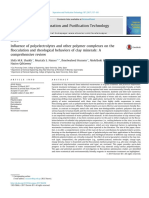 Influence of polyelectrolytes and other polymer complexes on the flocculation and rheological behaviors of clay minerals- A comprehensive review.pdf