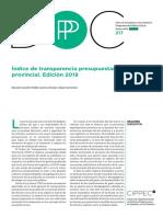 Informe de Transparencia Presupuestaria de las provincias