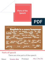 Parts of the Speech and word formation