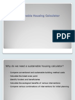 Sustainable Housing Calculator - Overview