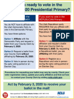 Unaffiliated Voter Primary Information Flyer
