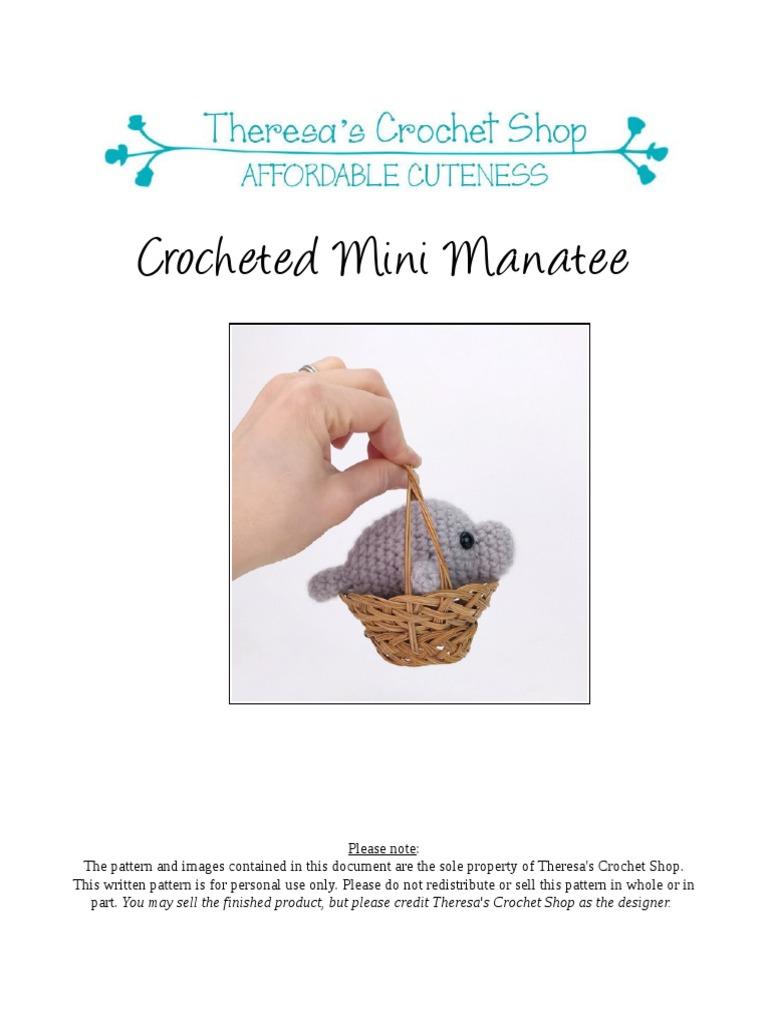 Manatee crochet pattern printable .pdf manatee amigurumi | Etsy | 1024x768