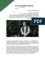 P. L. Los versos de Rafael Cadenas