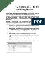 Funciones y herramientas de los documentos de Google Docs.docx
