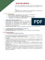 Droit des affaires. court terme de somme d argent et qui sert à son paiement..pdf