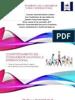 COMPORTAMIENTO DEL CONSUMIDOR NACIONAL E INTERNACIONAL