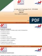 TECNOLOGIA DO GESSO - AULA 25 - GESSO PARA REVESTIMENTO