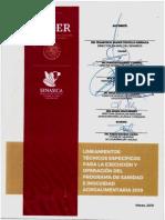 Lineamientos Técnicos Especificos para la ejecucion y operacion del programa de sanidad e inocuidad agroalimentaria 2019