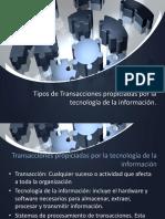 Tipos de Transacciones propiciadas por la tecnología de la información
