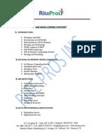Sap Hana Course Contents