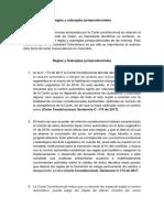 Reglas y subreglas jurisprudenciales