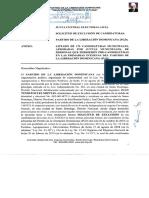 Instancia JCE Solicitud Exclusión Tránsfugas