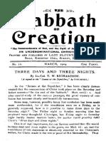 Flat or Spherical - 11 - Sabbath of Creation (No. 12)