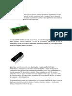 memoria ram, memoria rom, microprocesador, tarjeta madre