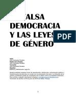 LA FALSA DEMOCRACIA  LAS LEYES DE GÉNERO-Pdf