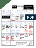 OCM schedule 2.1