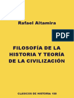 Altamira - Filosofía de La Historia