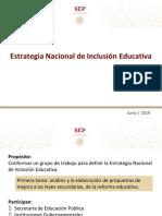 Estrategia Nacional Educación Inclusiva