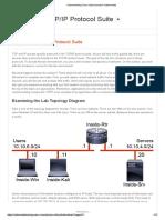 1.21 Explore the TCPIP Protocol Suite