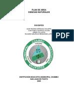 Plan de área Ciencias Naturales 2020