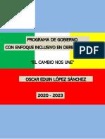 Plan de Gobierno Buenos Aires  2020