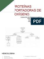 PROTEÍNAS TRANSPORTADORAS DE OXÍGENO.