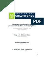 1.1 DESARROLLO DE CUESTIONARIO. INTRODUCCIÓN A BIG DATA