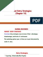 Market Entry Strategies ch 10