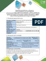 Guía de actividades y rúbrica de evaluación -  Fase 3 - Elaborar análisis DOFA sobre el POMCA de la Región