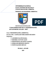 Caracterización de la geomorfología de Pastoruri
