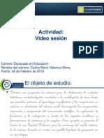 Exposición Video conferencia