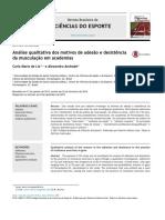 Análise qualitativa dos motivos de adesão e desistência da musculação em academias (1)