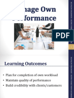 Managing Own Performance (1)