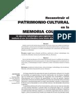 RECONSTRUIR EL PATRIMONIO CULTURAL - CULIACÁN SINALOA