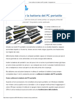 Come calibrare la batteria del PC portatile - Navigaweb.net