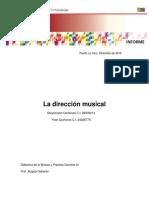 La direccion musical
