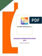 catalogos de productos AL 2019