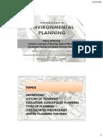1 - Introduction to  Envl Planning handouts