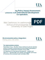 Institutionalising Policy Impact Assessment