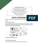 SIGLAS Y DEFINICIONES AMBIENTALES