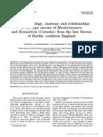 [20820259 - Acta Palaeobotanica] Fruit morphology, anatomy and relationships of the type species of Mastixicarpum and Eomastixia (Cornales) from the late Eocene of Hordle, southern England