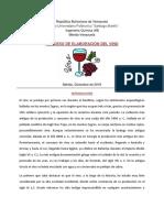 PROCESO DE ELABORACION DEL VINO A NIVEL INDUSTRIAL