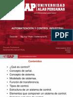 SEMANA 1 -PRINCIPIOS BÁSICOS DE LA AUTOMATIZACIÓN Y CONTROL