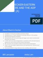 Group 3 BLACK & DECKER-EASTERN HEMISPHERE AND THE ADP INITIATIVE (A)