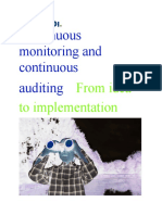 Continuous monitoring and continuous auditing