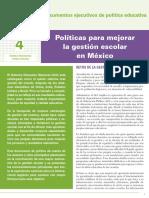 Lectura 7.- Políticas para mejorarla gestión escolar en México (Recuperado)