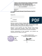Surat Tutorial GANJIL 2019-2020