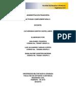 Actividad complementaria 1 Administracion Financiera UMNG